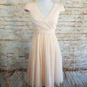 "J. Crew Mirabella ""Dusty Rose"" Silk Chiffon Dress"